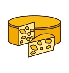 Delicious cheese dairy vector image