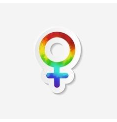 Gender identity icon female venus symbol vector
