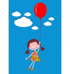 girl with balloon vector image
