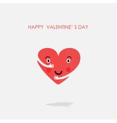 heart icons logo design template vector image