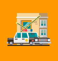 police car patrol image flat vector image