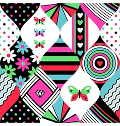 pop pattern patchwork vector image vector image