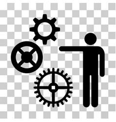 project mechanics icon vector image vector image