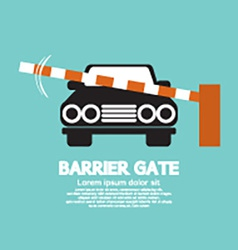 Security Barrier Gate Closed For Vehicle vector image vector image