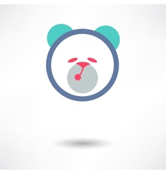 Teddy Bear Toy - icon isolated vector image vector image