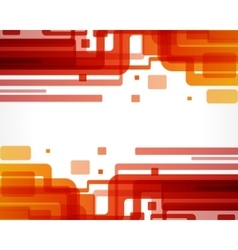 Abstract retro technology lines vector image