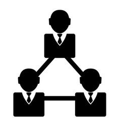 businessmen network icon vector image