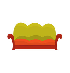 colorful vintage sofa living room or office vector image