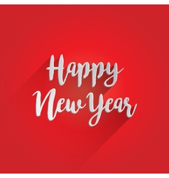 Happy new year lettering design vector