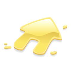 liquid gold metal house symbol sign vector image