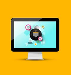 modern web design on computer screen 3d pc vector image vector image