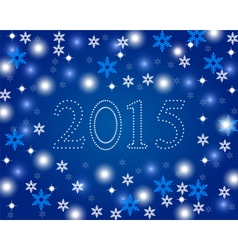 New Year 2015 on a blue background with snowflakes vector image vector image
