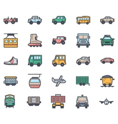 Transport icons 5 vector