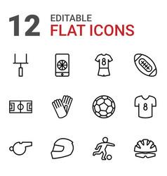 12 football icons vector
