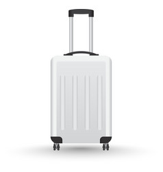 3D Realistic suitcase for travel vector