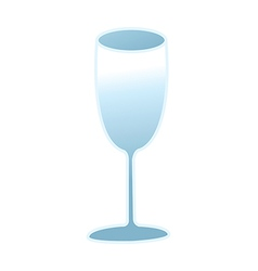 A glass of wine is placed vector