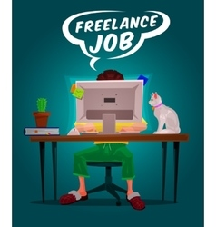 a man freelance vector image