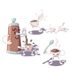 adventures coffee cup vector image