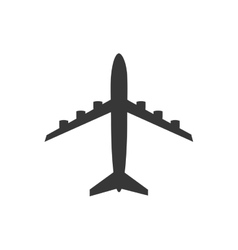 Airplane silhouette travel icon graphic vector