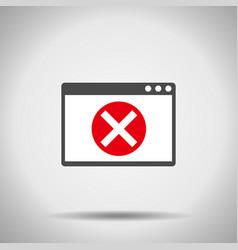 alert window icon error window vector image