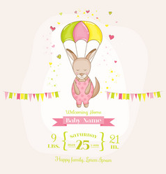baby girl kangaroo flying with a parachute vector image