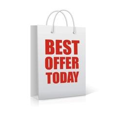 Best offer today shopping bag vector