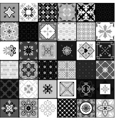 black and white modern ceramic tiles vector image