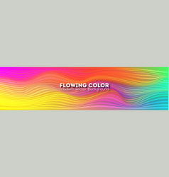 bright abstract flowing pattern minimalistic vector image