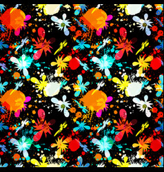 bright abstract geometric seamless pattern in vector image
