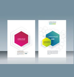 brochures design with colorful abstract geometry vector image