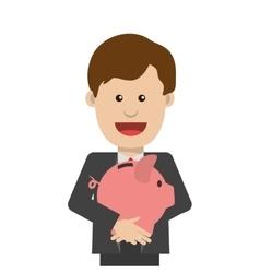 businessman cartoon business design vector image