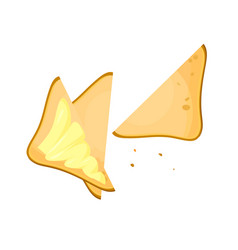 cartoon toast bread slice with butter sandwich vector image