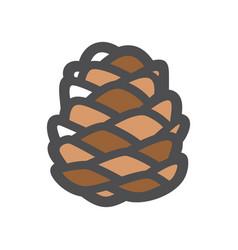 cedar cone pine icon cartoon vector image