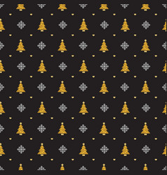christmas retro seamless pattern background for vector image
