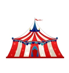 Circus marquee tent vector
