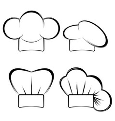 collection of chefs hats vector image