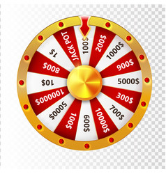 colorful wheel of luck or fortune infographic vector image