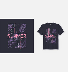 Crazy summer t-shirt and apparel modern design vector