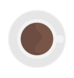 Cup coffe top view vector image