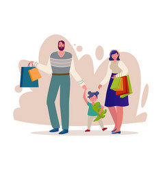 customers flat characters vector image