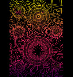 decorative abstract background psychedelic vector image