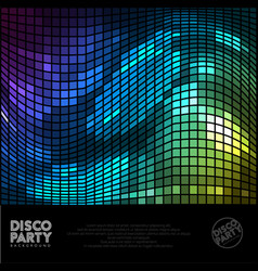 disco digital background vector image