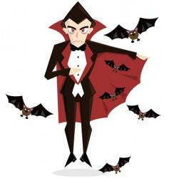 Dracula Halloween vector
