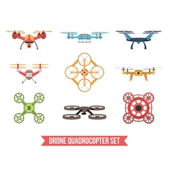 Drone Quadrocopter Set vector image