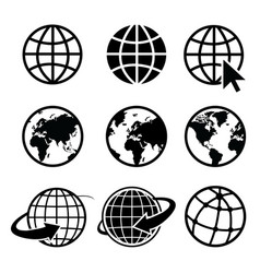 earth icon element nasa vector image