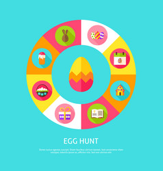 egg hunt concept vector image