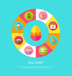 Egg hunt concept vector