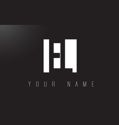 el letter logo with black and white negative vector image