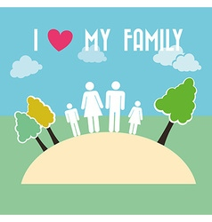 family and home vector image