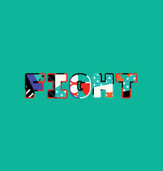 Fight concept word art vector